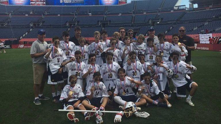 The Long Island Express 13-under team celebrates winning