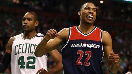 Otto Porter Jr. of the Wizards reacts during