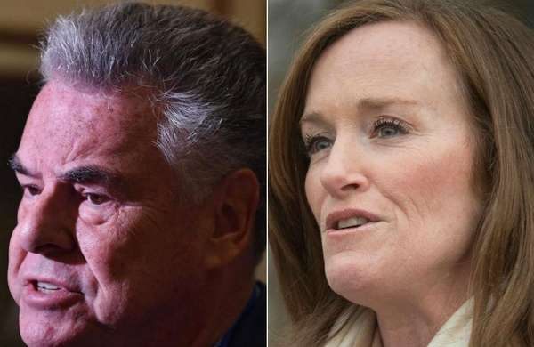 Rep. Peter King, left, and Rep. Kathleen Rice,