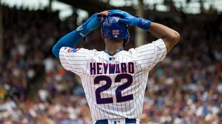Chicago Cubs right fielder Jason Heyward after the
