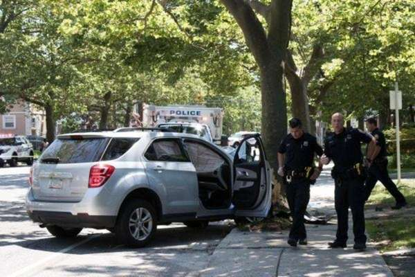 A single-car crash that injured three people on