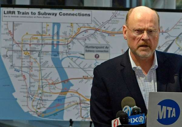 MTA chief Joe Lhota gives an update Sunday,