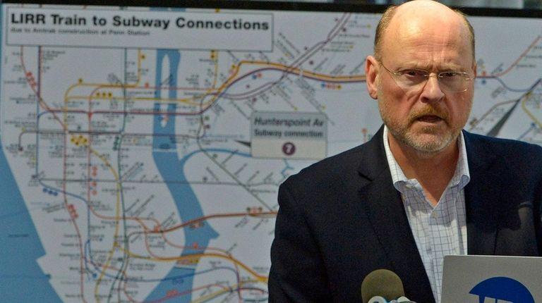 MTA chief Joe Lhota gives an update Sunday,