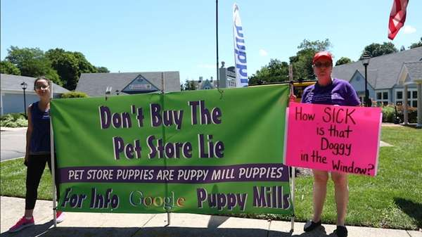 A protest was held by Puppy Mill Free Long