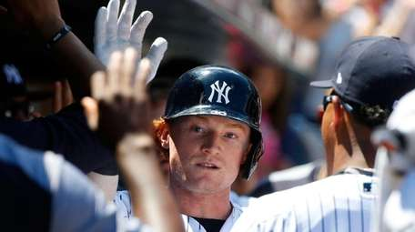 Clint Frazier of the New York Yankees celebrates