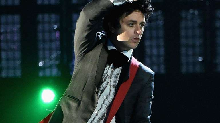 Inductee Billie Joe Armstrong of Green Day performs