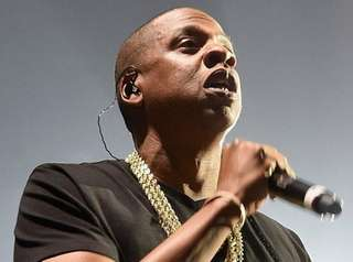 Jay-Z performs onstage at Barclays Center on