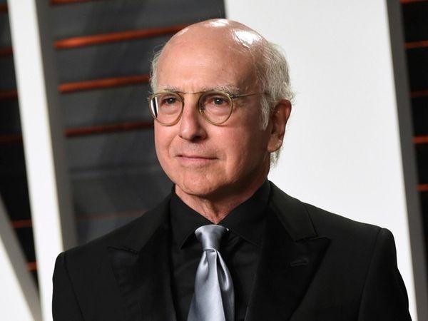 Larry David arrives at the Vanity Fair Oscar