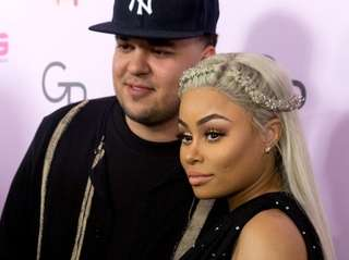 Rob Kardashian and Blac Chyna at the