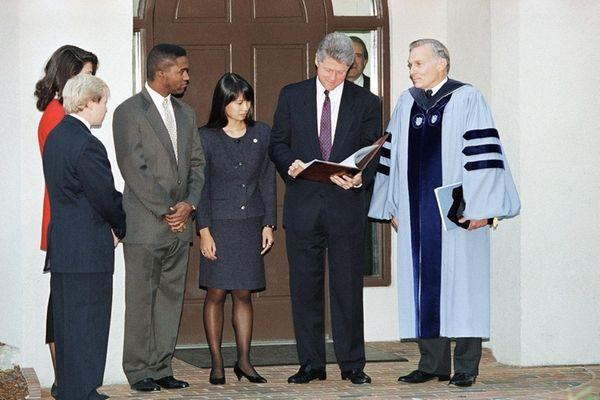 University of North Carolina Chancellor Paul Hardin III,