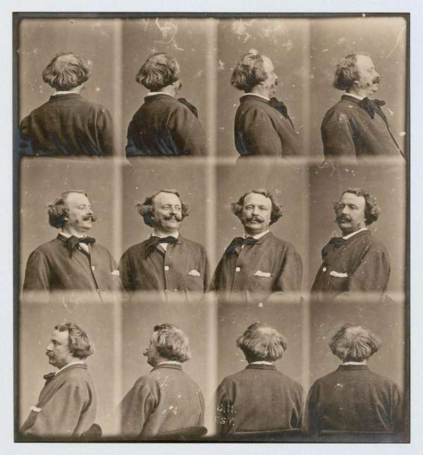 A series of self-portraits by French photographer Nadar.