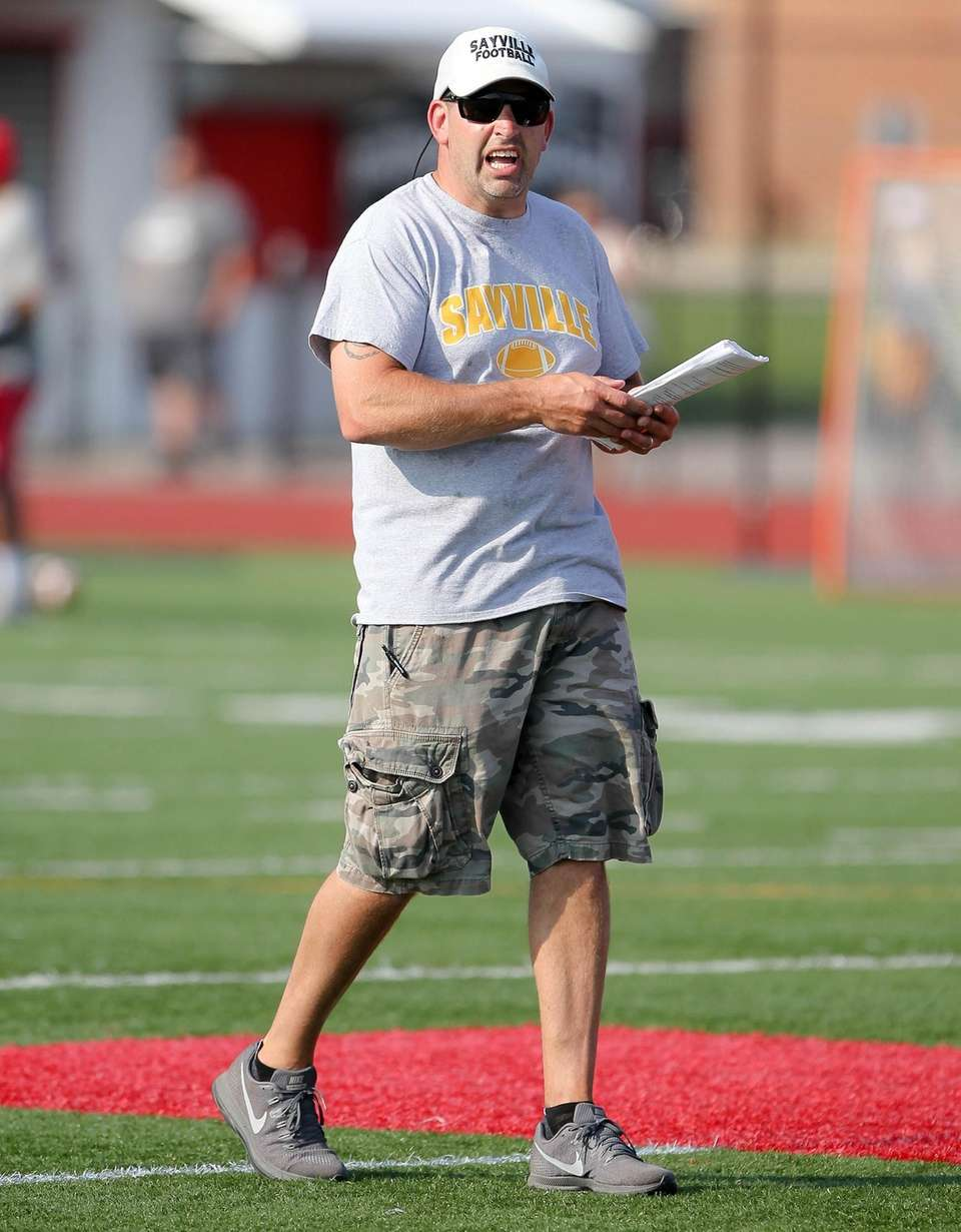 Sayville Head Coach Reade Sands during the 7
