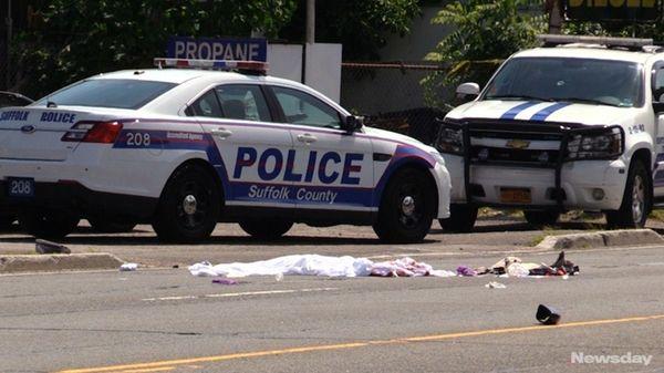 A pedestrian died after being struck by a