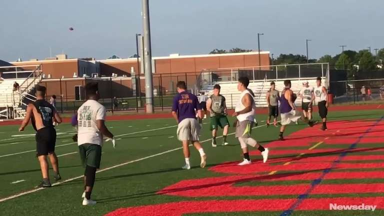 Sayville quarterback Jacob Cheshire ran the offense during