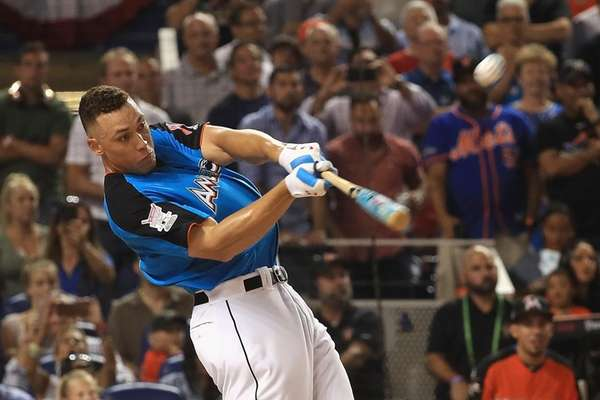 Aaron Judge of the New York Yankees competes