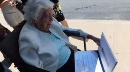 Hanna Lovett, 107, of Mattituck was awarded an
