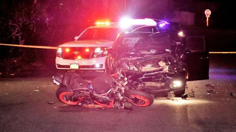 A motorcyclist died in a crash with a