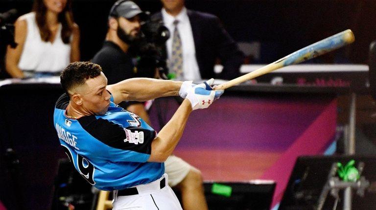 Yankees rightfielderAaron Judge competes in the final round
