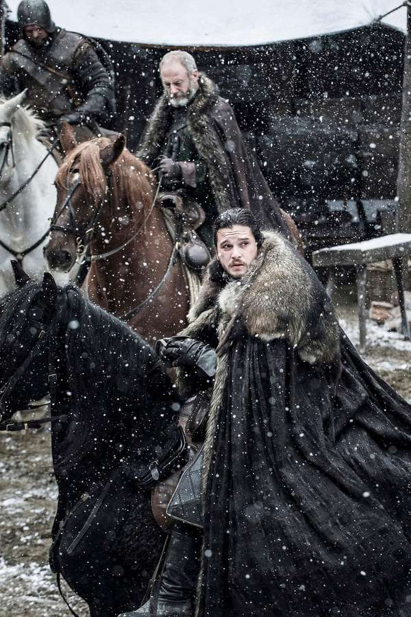 Liam Cunningham and Kit Harington in HBO's season