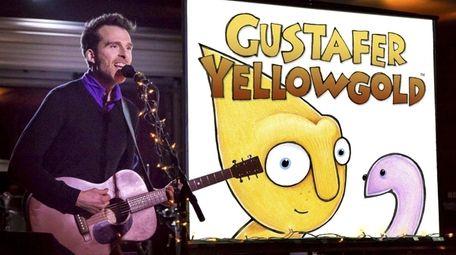 Gustafer Yellowgold and his human buddy Morgan Taylor