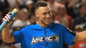 The Yankees' Aaron Judge can hardly contain himself