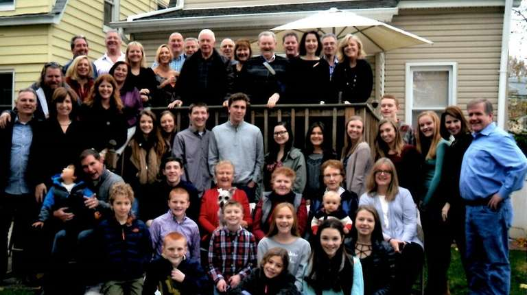 The Keaveney family gathers for Thanksgiving this past
