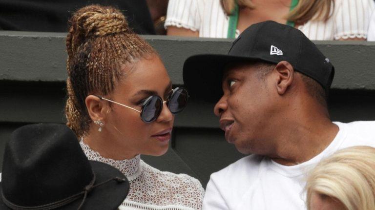 Beyoncé and Jay-Z at Wimbledon on July 9,
