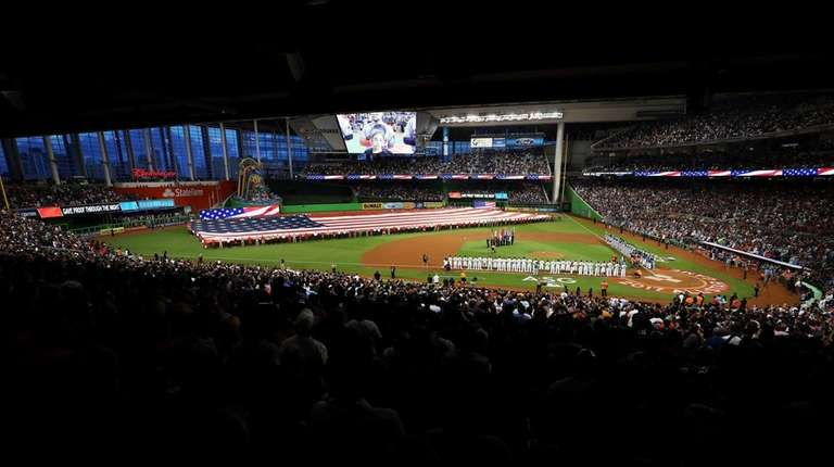 A general view prior to the 88th MLB