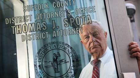 Longtime Suffolk District Attorney Thomas Spota and one