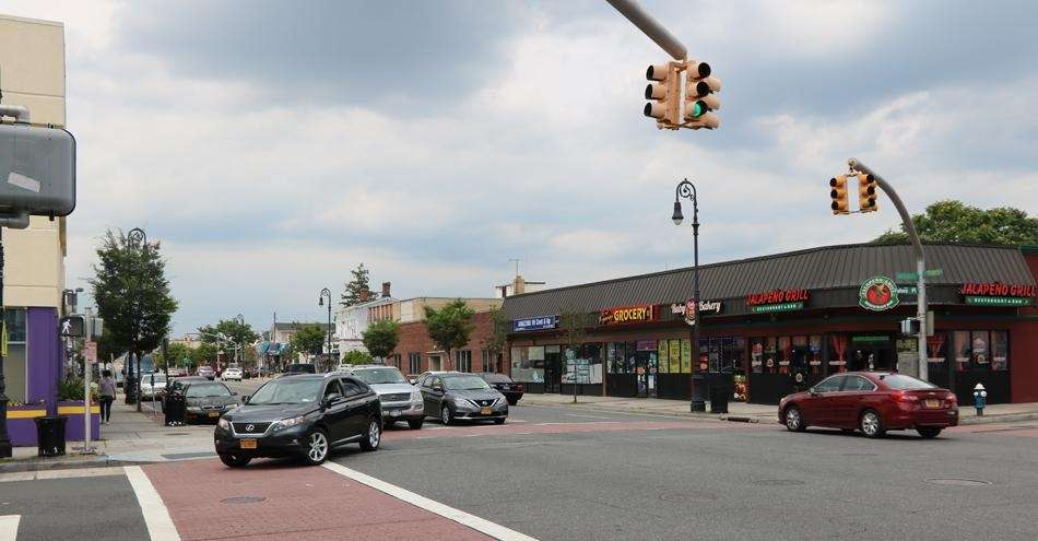 North Franklin Street in downtown Hempstead is shown