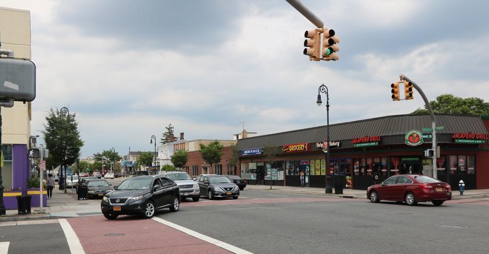 North Franklin Street in downtown Hempstead is shown