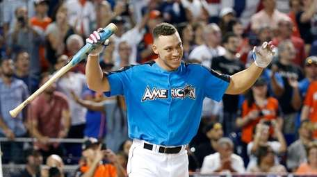 Aaron Judge after winning the Home Run Derby