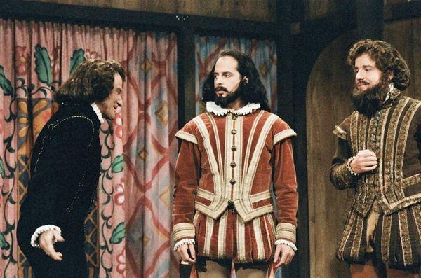 Jon Lovitz, center, played Shakespeare with Robin Williams,