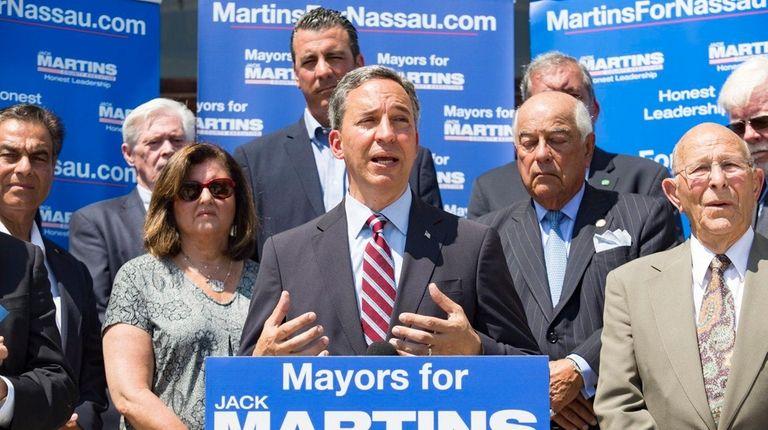 Jack Martins, GOP candidate for Nassau executive, receives