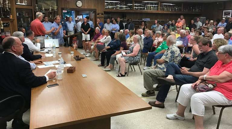 Hundreds of Eastport residents attend a public meeting