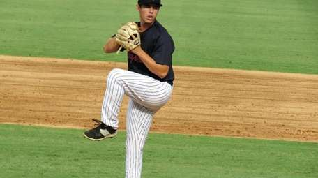 Chase Hodson, pitching for Tampa here, was signed