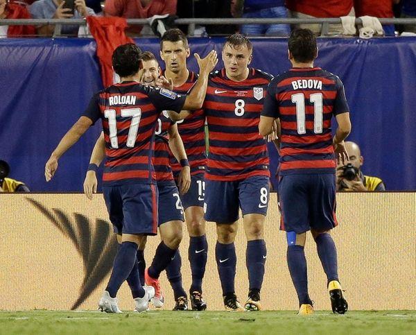 United States' Jordan Morris celebrates after scoring a