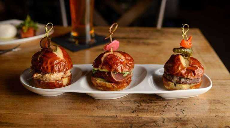 A flight of sliders at Flight in Patchogue,