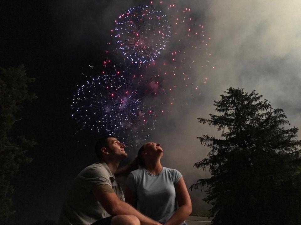 Kristan Taylor and Kurt Becker. Fireworks at Eisenhower