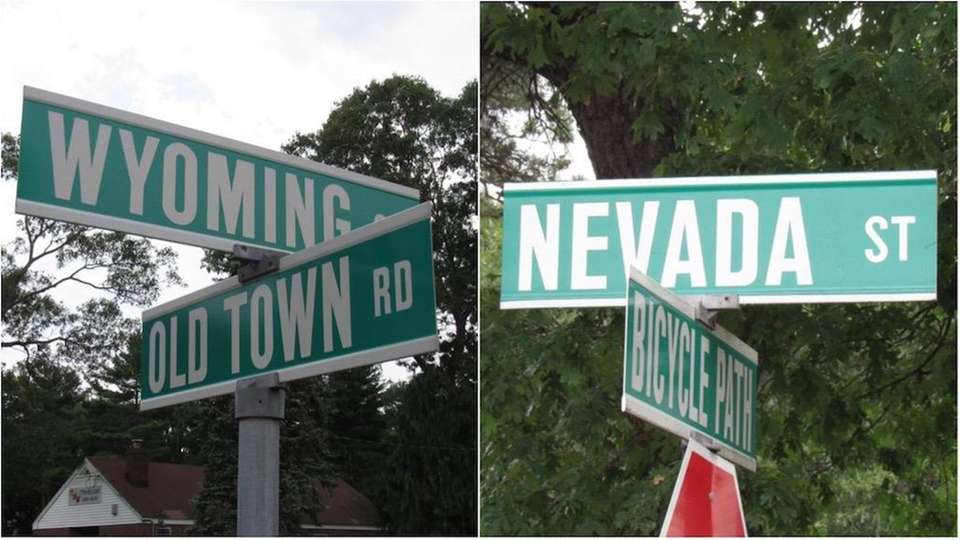 In Selden, you'll find several streets named after