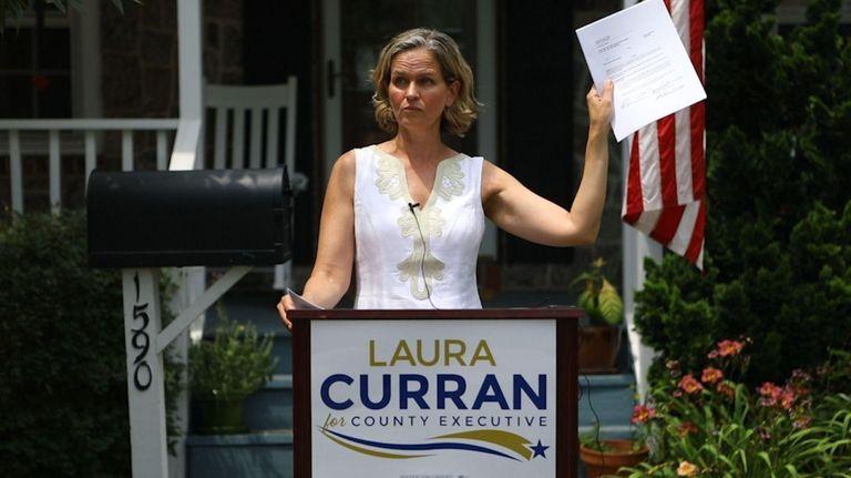 Nassau County Legis.Laura Curran (D-Baldwin), who is running