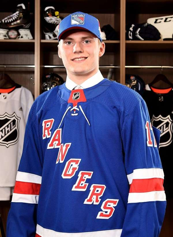 Lias Andersson poses for a portrait after being