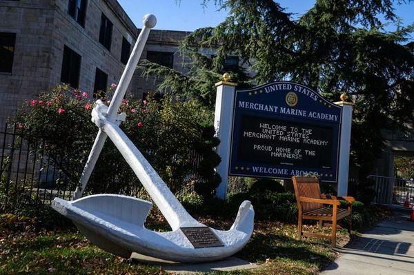 The entrance of the U.S. Merchant Marine Academy