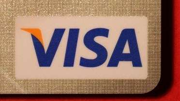 The VISA logo and hologram are imprinted on