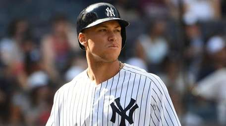Yankees rightfielder Aaron Judge comes up to bat