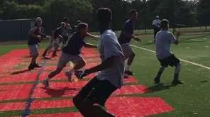 Brentwood's football team took part in a 7-on-7