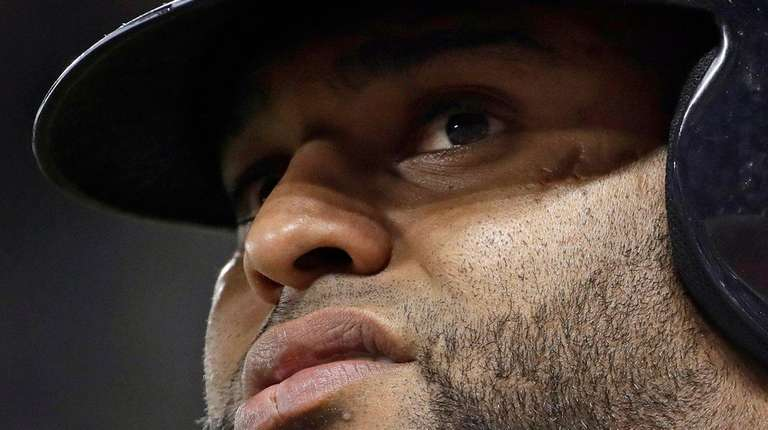 Red Sox third baseman Pablo Sandoval prepares to bat