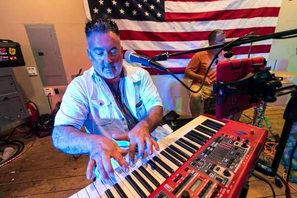 Frank Stainkamp of Masapequa Park on keyboard at