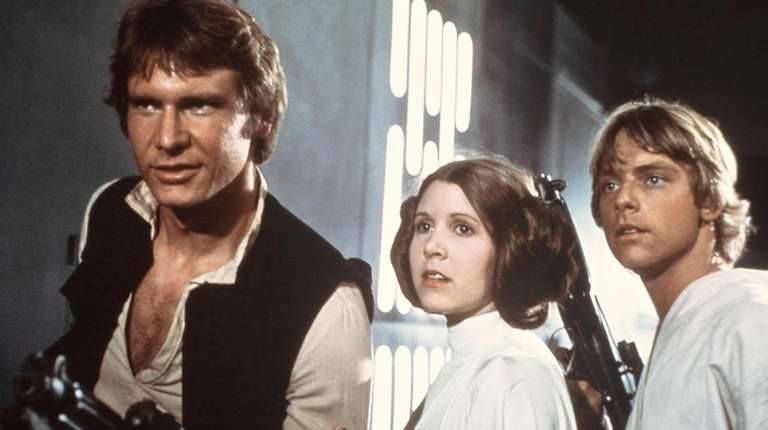 Harrison Ford, Carrie Fisher and Mark Hamill are