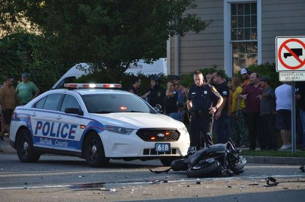 A motorcycle rider was involved in a serious